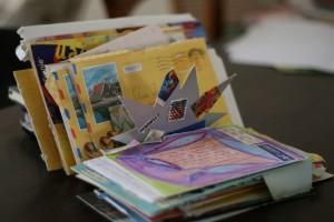 Ik verzamelde mijn brieven in een speciale houder.