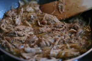 pulled pork: klaar om te serveren