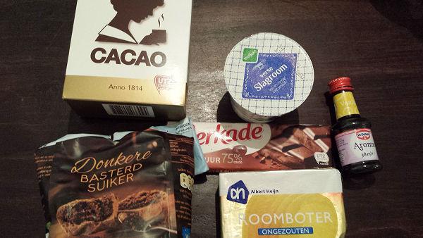 ingrediënten chocoladesaus