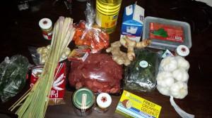 Ingrediënten voor rendang