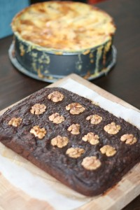 appeltaart en brownies