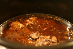 Vlees na 7 uur in de Crock Pot