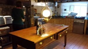 kitchen at Totleigh Barton manor