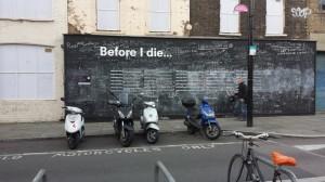 Before I die-bord