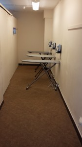 De strijkkamer in het Ibishotel in Euston
